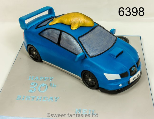 3D Subaru Car Birthday Cake