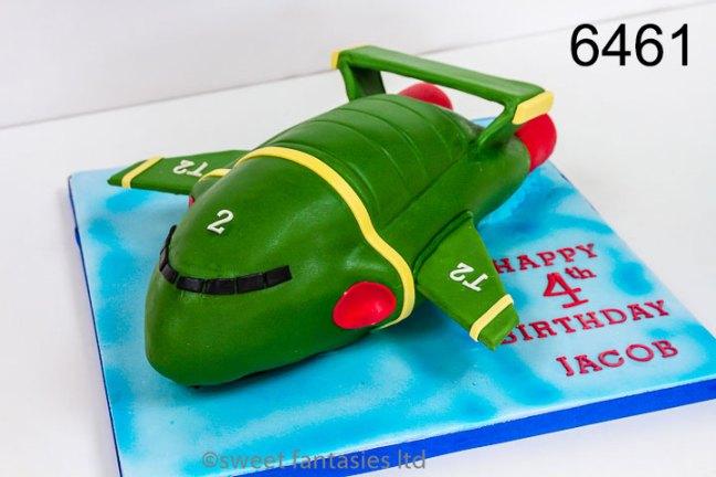3D Thunderbird 2 Birthday Cake