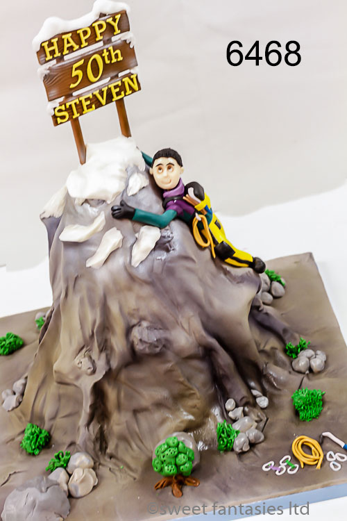 3d birthday cake, mountaineer