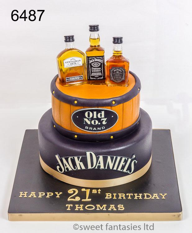 jack daniel's boys 21st birthday cake