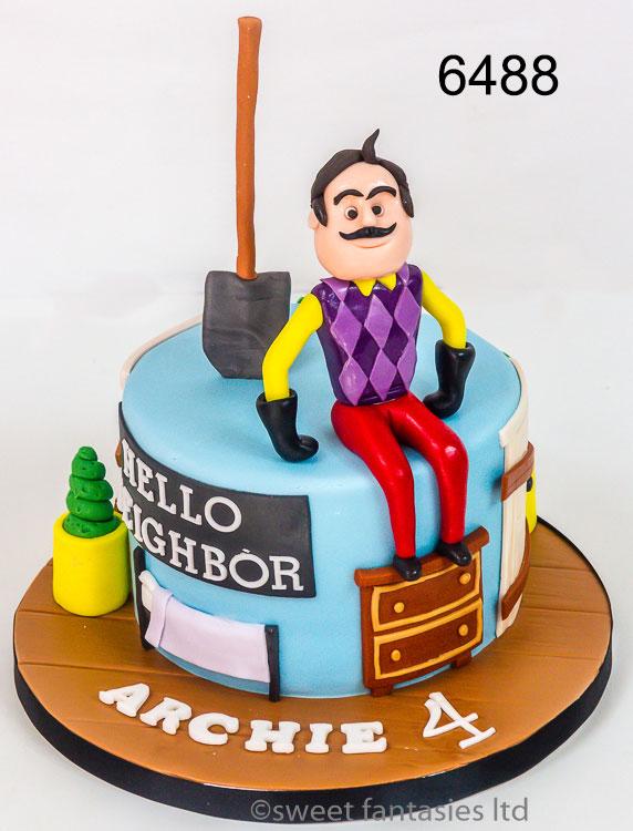 Hello Neighbor Birthday Cake