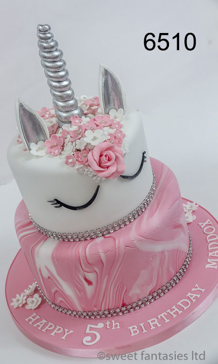 girls birthday cake, 2 tier unicorn cake