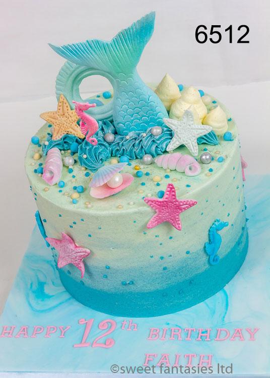 Mermaid Tail Girls Birthday Cake