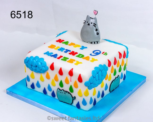 Girls Cat Birthday Cake