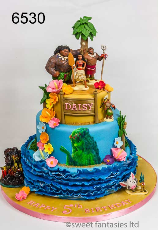 Disney Moana Girls Birthday Cake