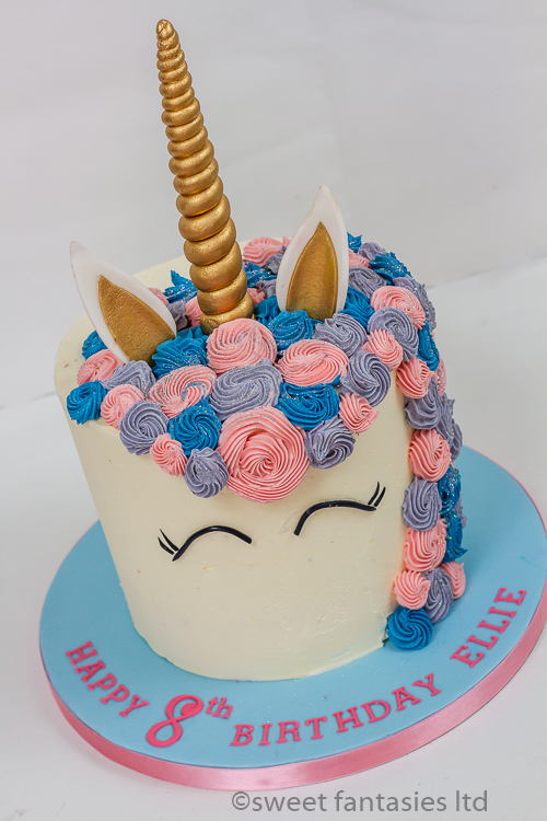 girls birthday cake, unicorn