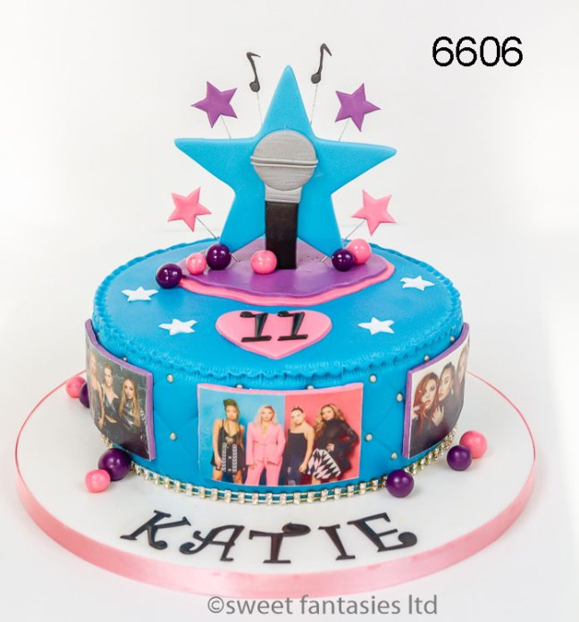 11 year olds Pop Group Birthday Cake