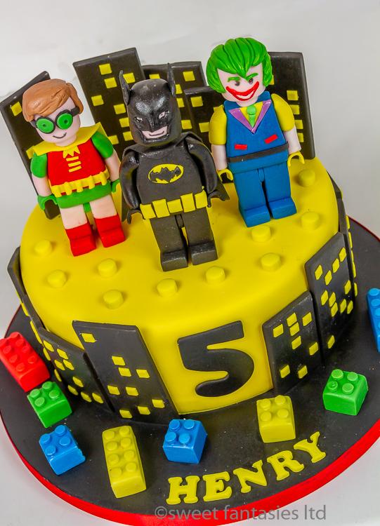 Lego Batman & Robin with the Joker Boys Birthday CakeBoys Cakes