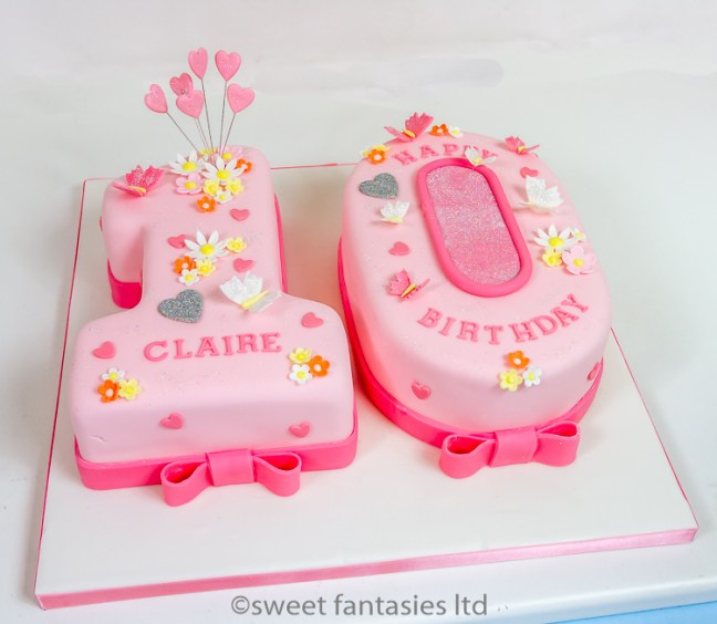 Girls Number 10 Birthday Cake