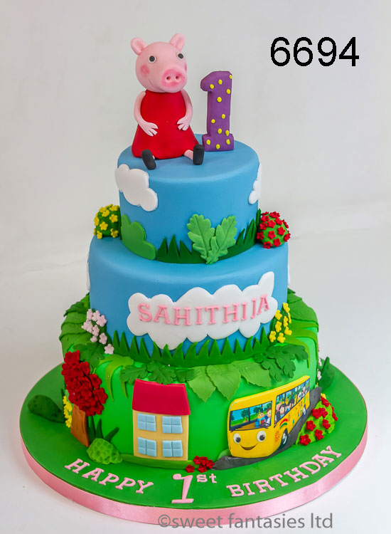 girls birthday cake - 3 tier