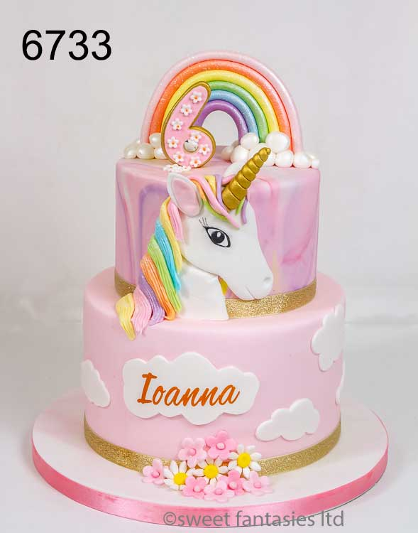 unicorn cake, girls birthday cake