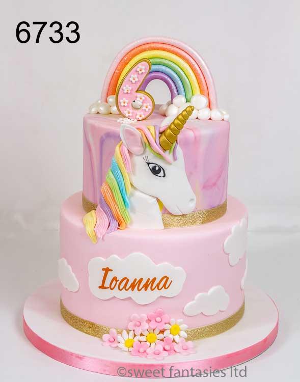 unicorn cake, girls birthday cake