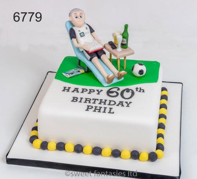 Football Fan 60th Birthday Cake