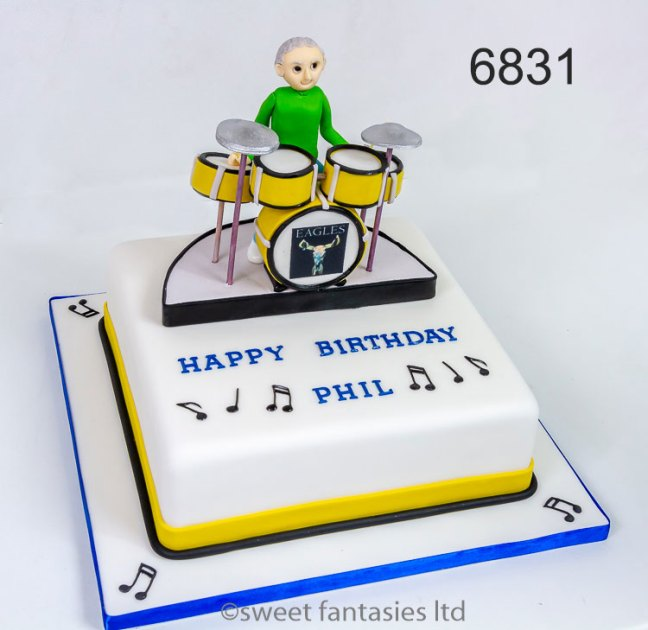 drummer - music birthday cake - sweet fantasies