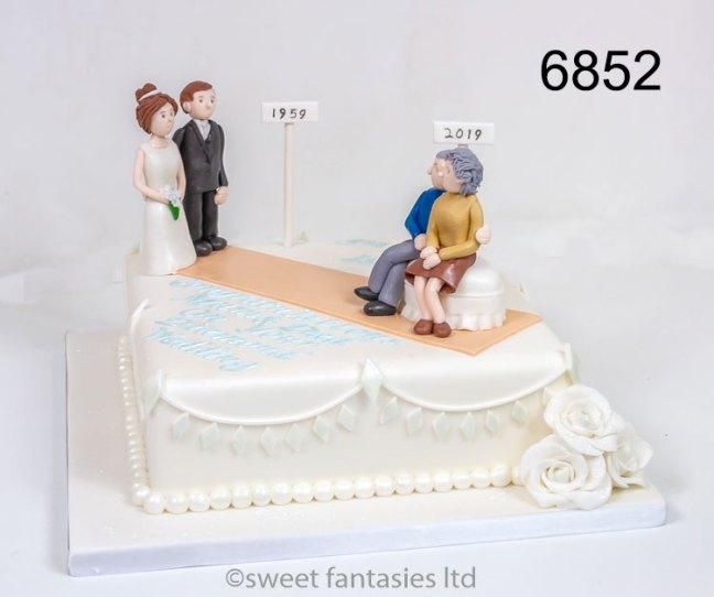 1959 to 2019, 60th Wedding Anniversary Cake