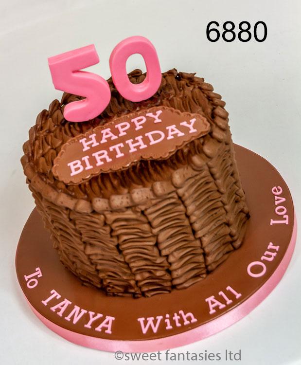 Chocolate buttercream 50th birthday cake