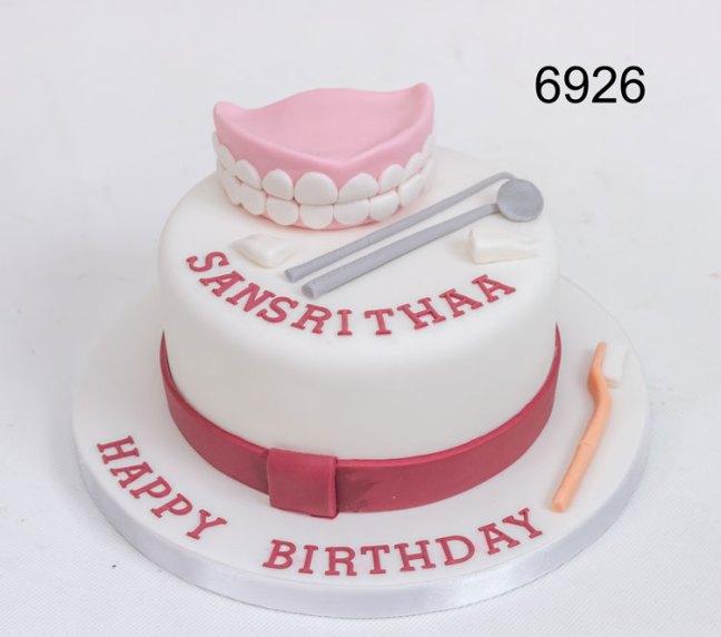 dental themed ladies birthday cake