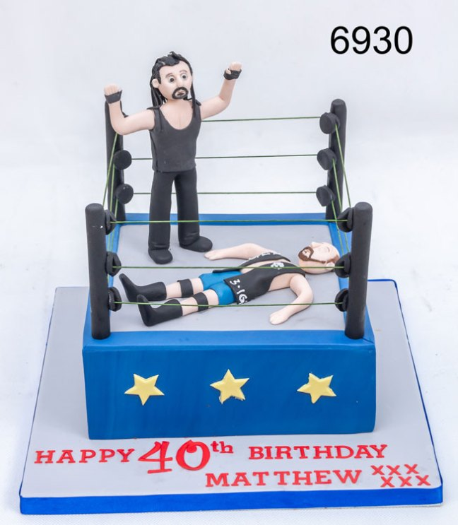WWE wrestlers 40th Birthday Cake