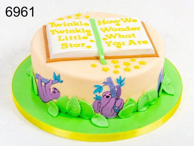 Twinkle twinkle little star, baby shower cake