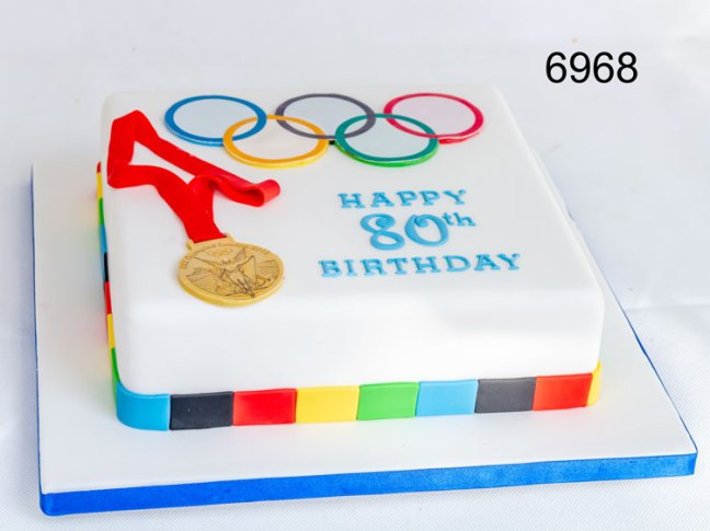 Olympic Games Themed Birthday Cake