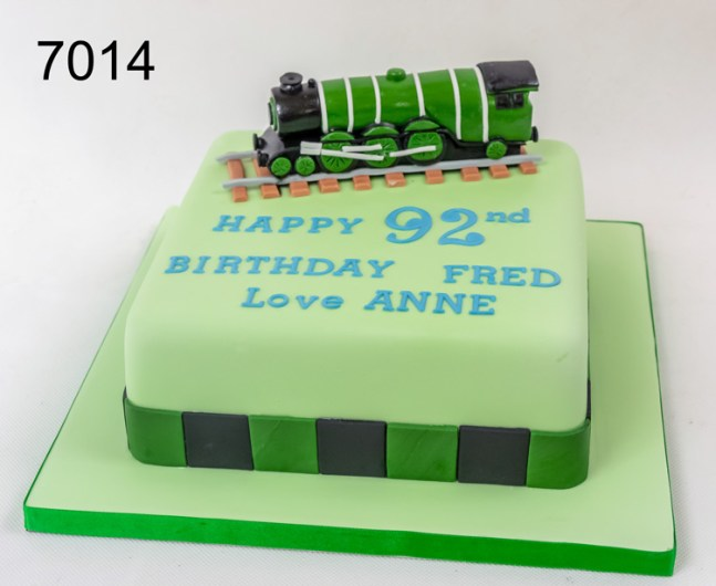 Birthday Cake with Model of a Steam Train