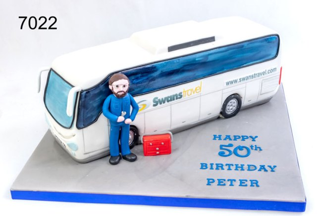 3D Bus Birthday Cake