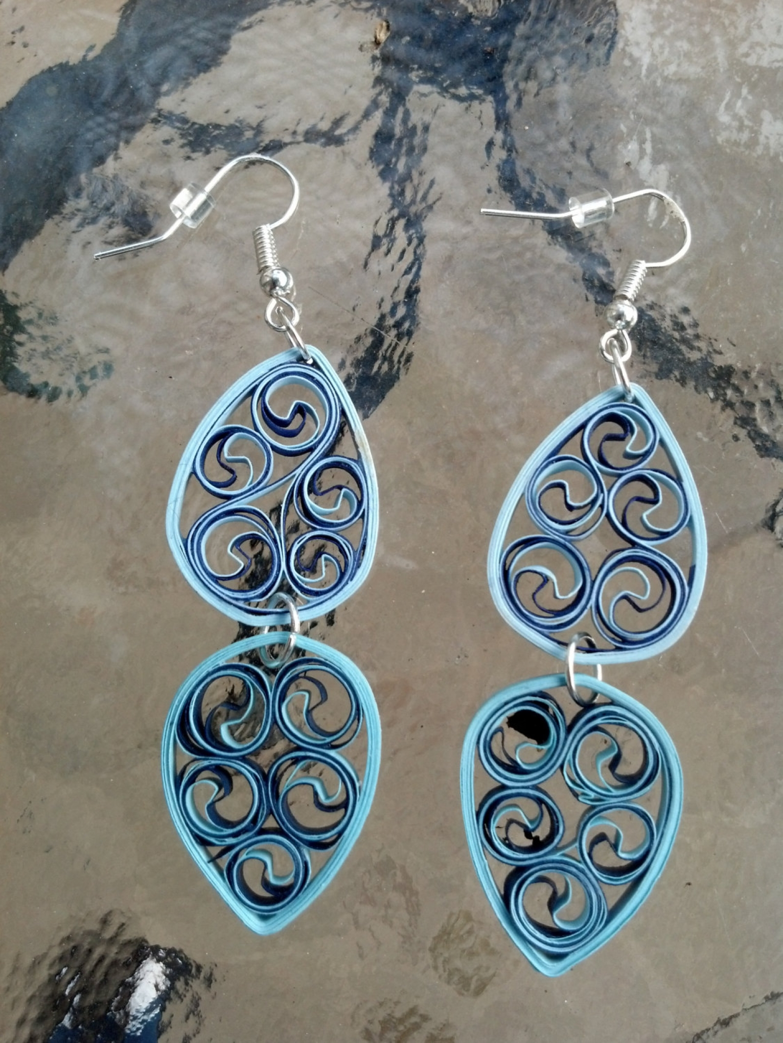 Paper Filigree Chandelier Earring Different Colors