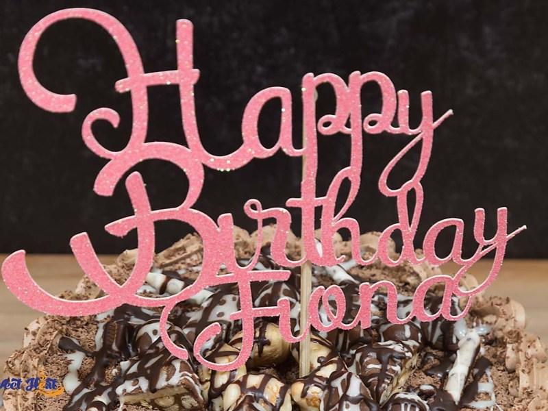 Pink Birthday Cake Topper