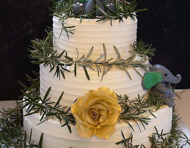 Rosemary Baby Shower Cake