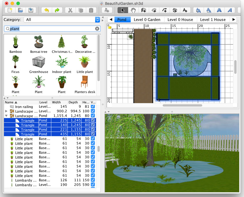 And if you select a grass texture for the ground,. How To Design A Beautiful Garden Sweet Home 3d Blog