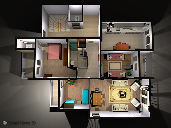 If you are new in the subject of 3d design. Sweet Home 3d Draw Floor Plans And Arrange Furniture Freely