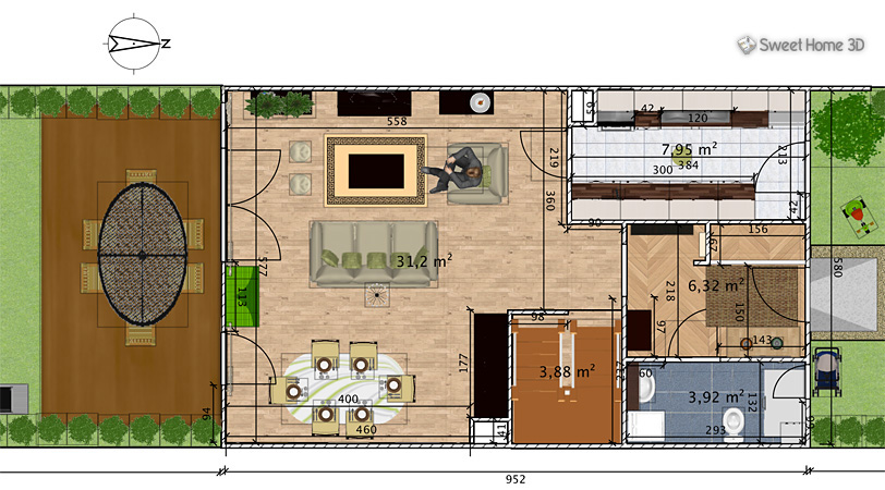 Sweet home 3d is a free architectural design software that helps users create a 2d plan of a house, with a 3d preview, and decorate exterior and interior. Sweet Home 3d Draw Floor Plans And Arrange Furniture Freely