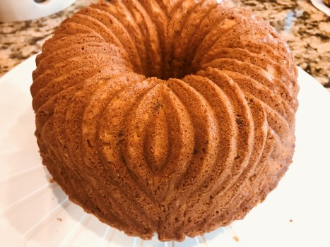 Rum Cake out of pan