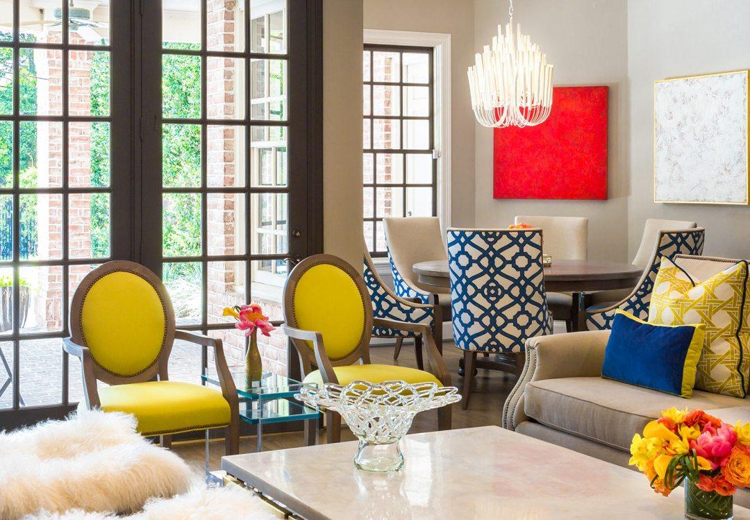 Dramatic Cobalt & Gold   Memorial Home Renovation   Houston, TX   2016