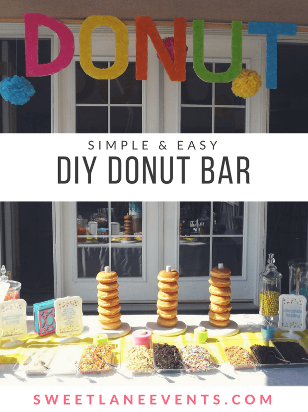 Donut Bar for birthdays, baby showers, weddings & graduations