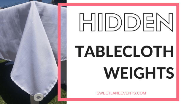 Hidden Tablecloth Weights - DIY tablecloth weights painted the color of your tablecloth weight SweetLaneEvents.com