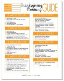 Checklist for Thanksgiving | Sweet Lane Events