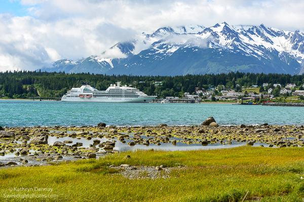 Seabourn Sojourn docked in Haines, Alaska