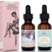 Vegan Rosehip & Frankincense Face Elixir - Sweet Living Company Skincare Firming Anti-aging Serum. Made in Canada. Beautiful Skin.