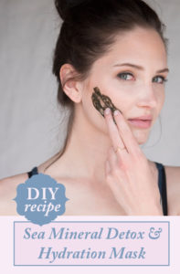 Sea Mineral Detox & Hydration Mask. Budget DIY fresh mask you can make from ingredients you have in the kitchen!