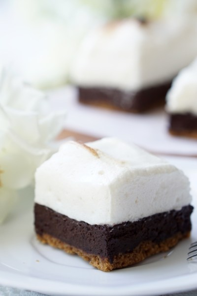 Healthy S'Mores Fudge Bars