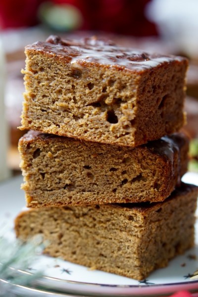 Healthy Banana Gingerbread (Refined Sugar-Free, Low-Calorie, All-Natural, Super-Tender and Very Easy To Make!)
