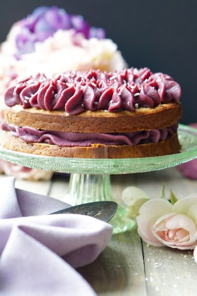 Healthy Sugar-Free Cake With Purple Frosting! (All-Natural, Vegan, Gluten-Free & Low-Calorie)