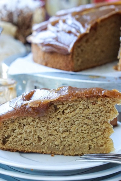 Healthy Caramel Apple Cake