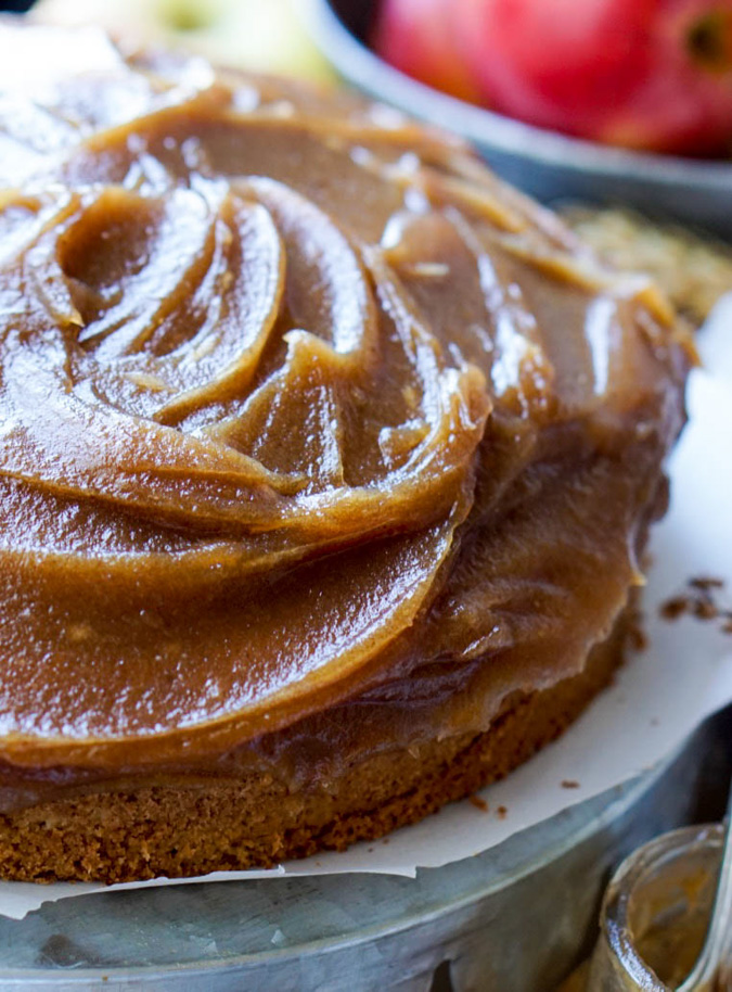The Healthy Caramel Apple Cake is low-fat, low-sugar, low-calorie, all-natural and nutrient-rich! It's also very yummy, scrumptious and delicious!