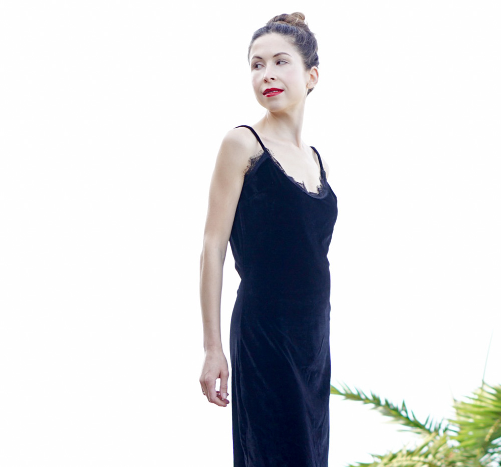 The comfortable and versatile Velvet Cami Dress