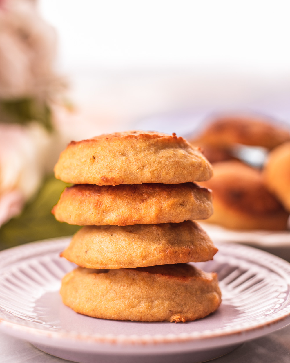 Making, Enjoying and Sharing the Healthy Chewy Banana Cookies that are so easy to make, low-calorie, low-fat and all-natural! Serve them as healthy dessert, snack or breakfast!