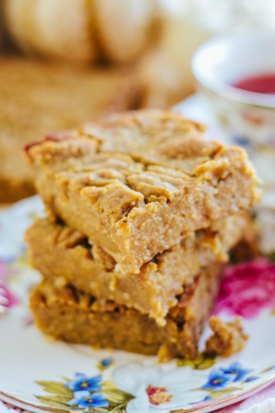 HEALTHY PUMPKIN CARAMEL BARS