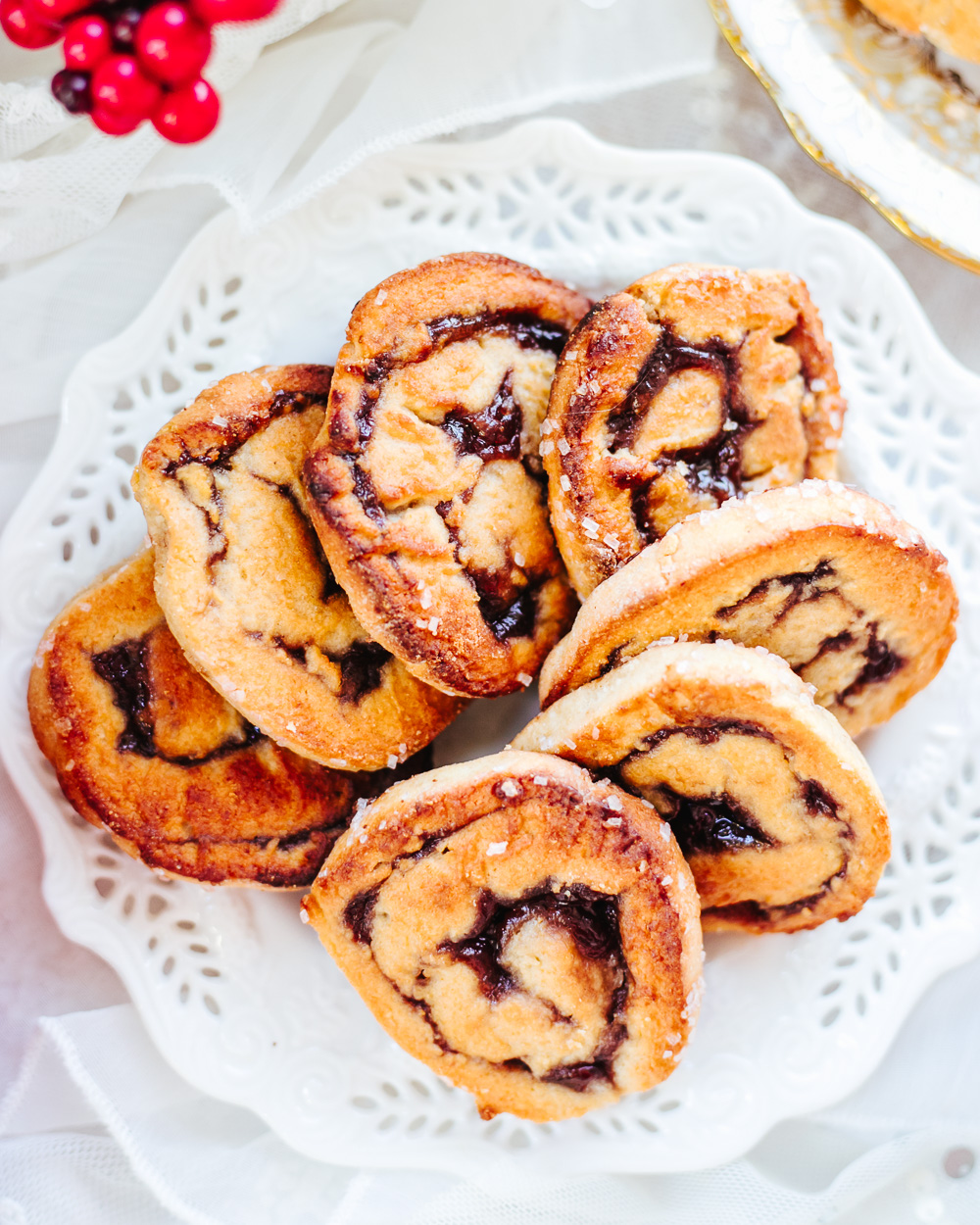 Healthy Pinwheel Cookies are lower-fat and lower-calorie than the traditional recipe, yet they are just as buttery, chewy and delicious!