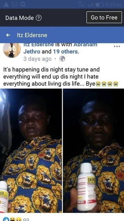 Sweetloaded suicidee-1 Man Commits Suicide By Drinking Sniper Because Of A His Girlfriend (Graphic Photos) gist News